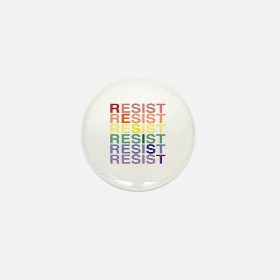 Lgbt Pride Resist Diagonal Mini Button