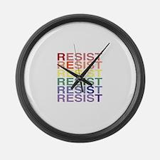LGBT Pride Resist Diagonal Large Wall Clock