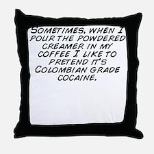 Cute Like my coffee black Throw Pillow