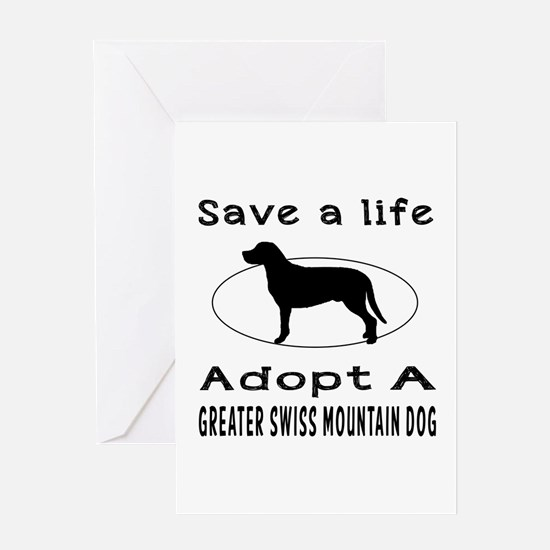 Adopt A Greater Swiss Mountain Dog Greeting Card