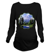Mt Raineer National Park Long Sleeve Maternity T-S