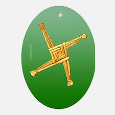 Brigit's Cross Oval Ornament