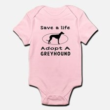 Adopt A Greyhound Dog Infant Bodysuit