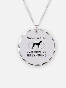 Adopt A Greyhound Dog Necklace