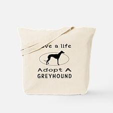 Adopt A Greyhound Dog Tote Bag