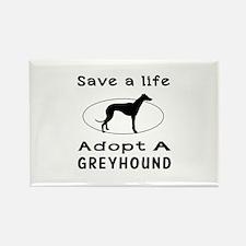 Adopt A Greyhound Dog Rectangle Magnet (10 pack)