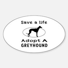 Adopt A Greyhound Dog Decal