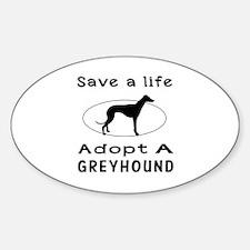 Adopt A Greyhound Dog Sticker (Oval)