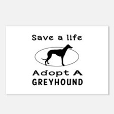 Adopt A Greyhound Dog Postcards (Package of 8)