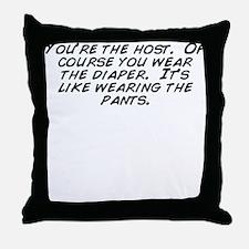 Cute Diaper Throw Pillow