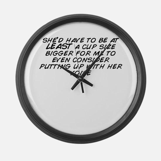 Cute Putt Large Wall Clock