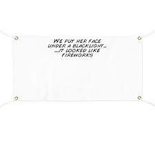Cute Blacklight Banner