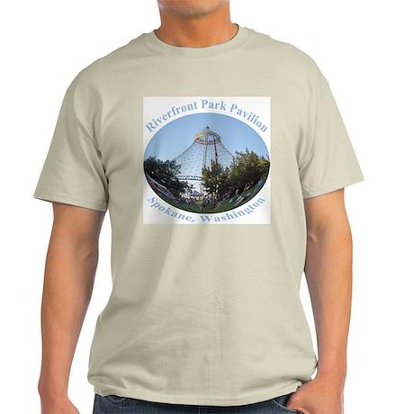 Spokane Riverfront Park Pavilion Ash Grey T-Shirt