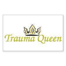 Trauma Queen Rectangle Decal