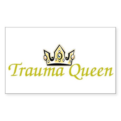 Trauma Queen Rectangle Sticker