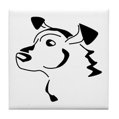 Doodle Dog Tile Coaster