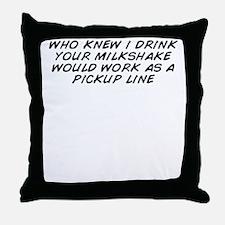 Cute Milkshake Throw Pillow