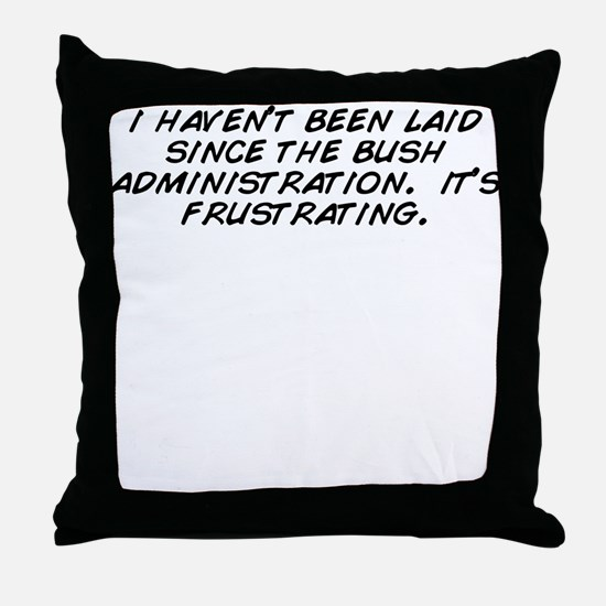 Cute Frustrated Throw Pillow
