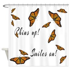 Chins Up Smiles On Catching Fire Shower Curtain