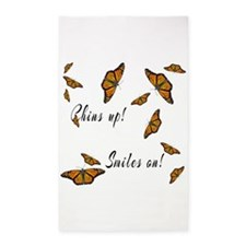 Chins Up Smiles On Catching Fire 3'x5' Area Rug