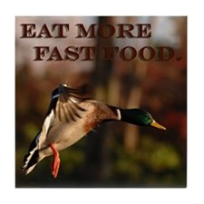 Eat More Fast Food Tile Coaster