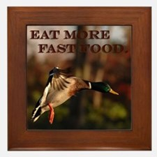 Eat More Fast Food Framed Tile