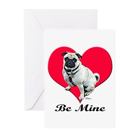 My Puggy Valentine Greeting Cards (Pk of 10)