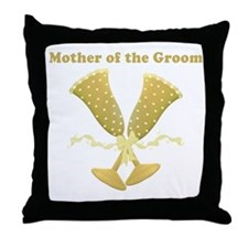 Champagne Mother of the Groom Throw Pillow