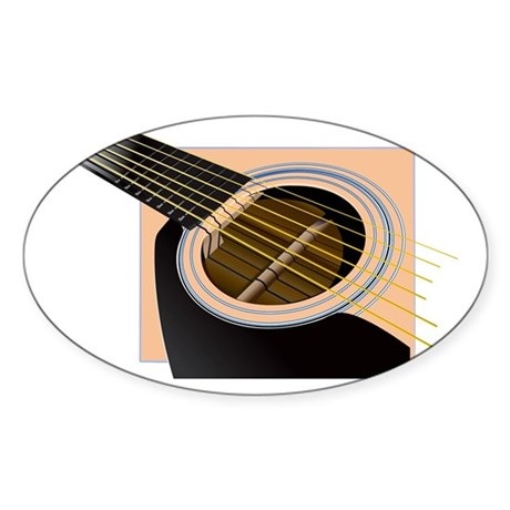 Accoustic Oval Sticker