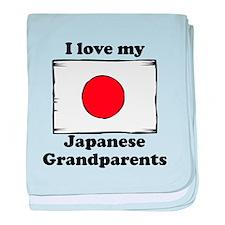 I Love My Japanese Grandparents baby blanket