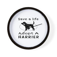 Adopt A Harrier Dog Wall Clock