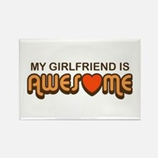 My Girlfriend is Awesome Rectangle Magnet