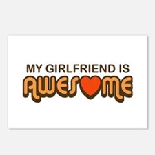 My Girlfriend is Awesome Postcards (Package of 8)