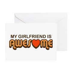 My Girlfriend is Awesome Greeting Cards (Package o
