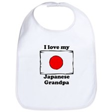 I Love My Japanese Grandpa Bib