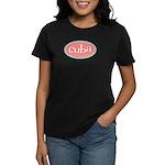 Cuba Oval Pink Women's Dark T-Shirt