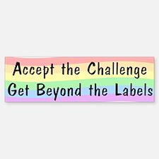 Accept The Challenge v2 Bumper Bumper Sticker