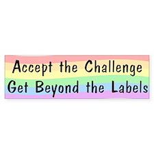 Accept The Challenge v2 Bumper Sticker