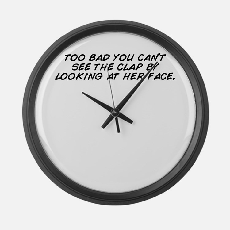 Cute Can you see through Large Wall Clock