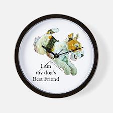 Fox Terrier Best Friend Wall Clock