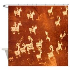 Atlatl Rock Petroglyphs Shower Curtain