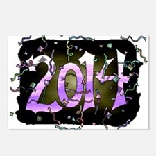 """""""Happy 2014"""" Postcards (Package of 8)"""