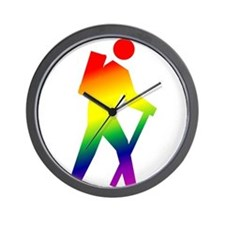Hiker Pride Wall Clock