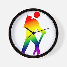 Hiker Pride Wall Clock