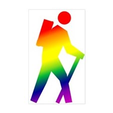Hiker Pride Rectangle Decal