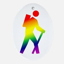 Hiker Pride Oval Ornament