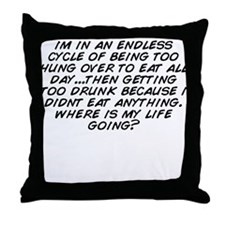 Cute Get over it cycling Throw Pillow