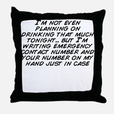 Funny Your lack of planning is not my emergency Throw Pillow