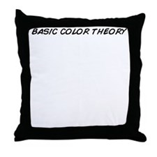 The theory of colors Throw Pillow