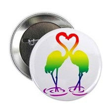 Flamingo Pride Button